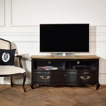 Meuble tv noir et bois