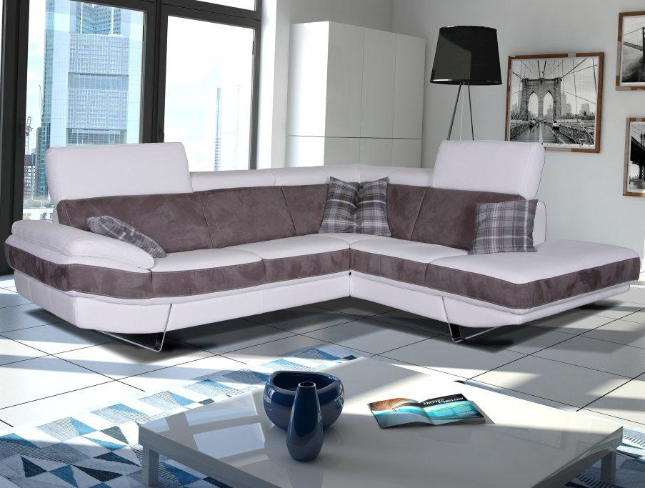 Canapé d'angle en microfibre