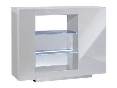 Meuble tv 1 tiroir vertigo coloris blanc