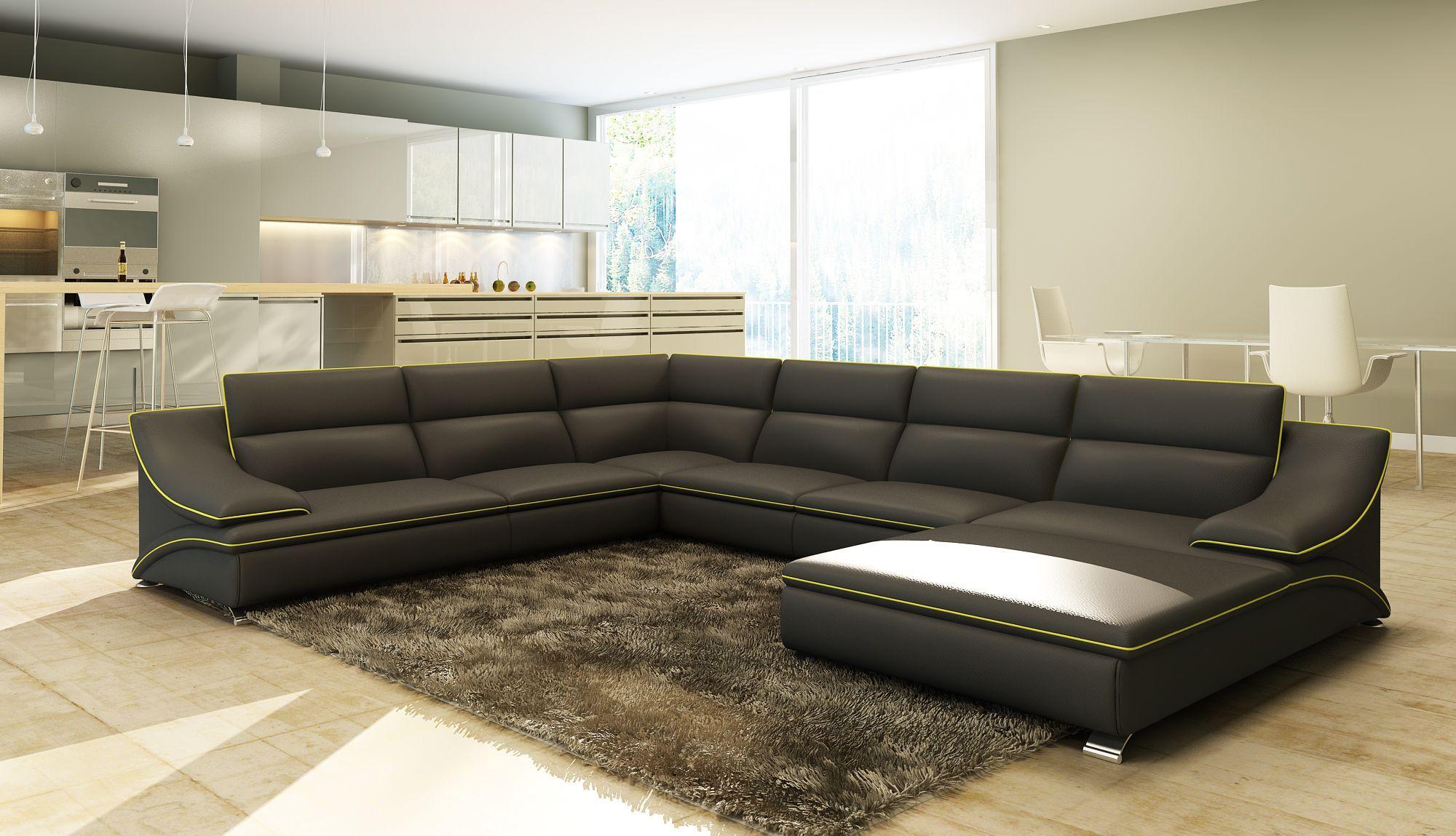 Canapé grand angle