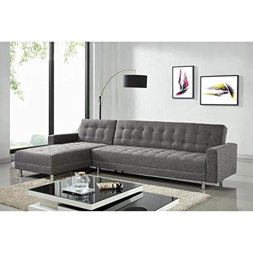 Luxury canapé d'angle réversible convertible en simili 4 places - 300x165x82 cm - noir
