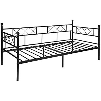 Canapé lit fer forgé noir