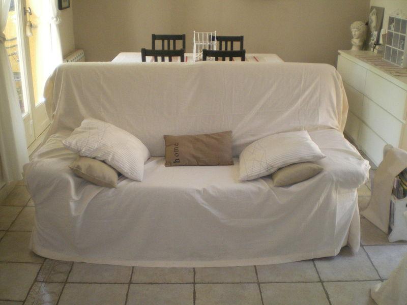Astuce pour recouvrir un canapé d'angle
