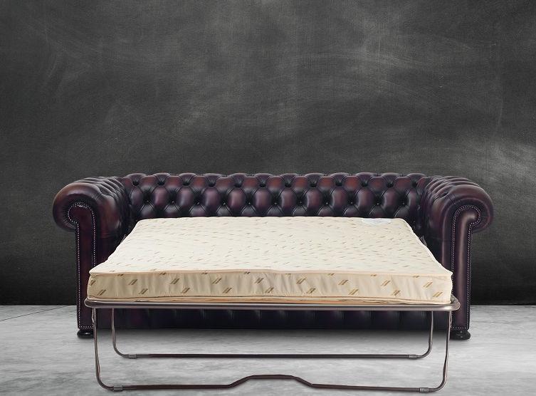 Canapé lit chesterfield cuir