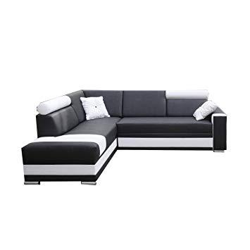 Canapé d'angle gauche simili cuir