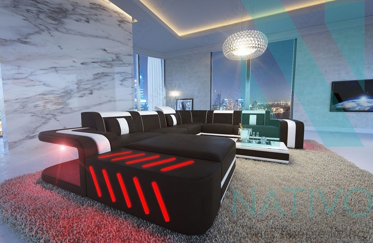 Canapé design avec led