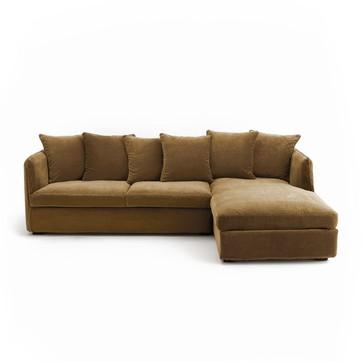 Canape d'angle marron