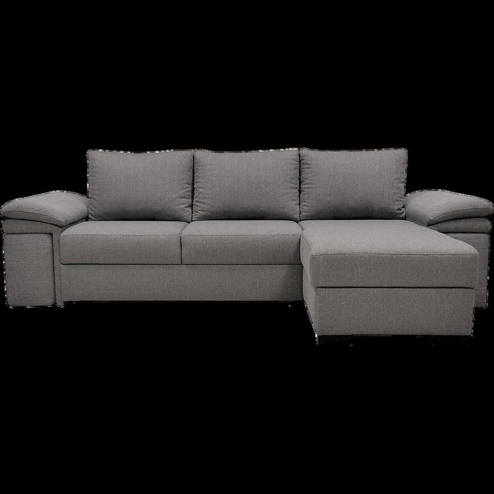 Canapé d'angle convertibleet réversible avec pouf