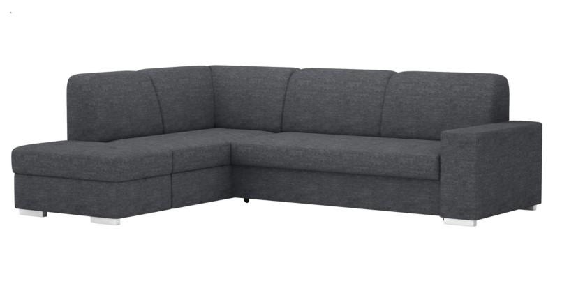 Canapé d'angle gauche roberta beige et taupe