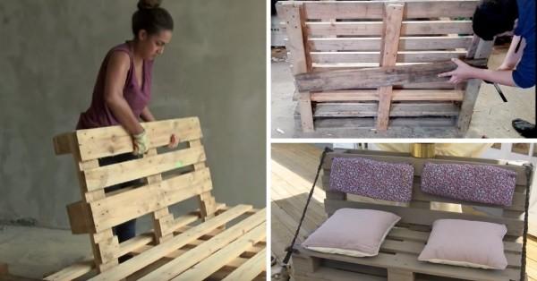 Fabriquer un canapé convertible en palette