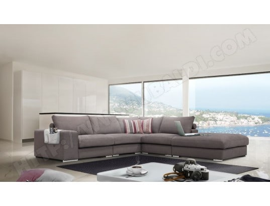 Canapé d'angle couleur taupe