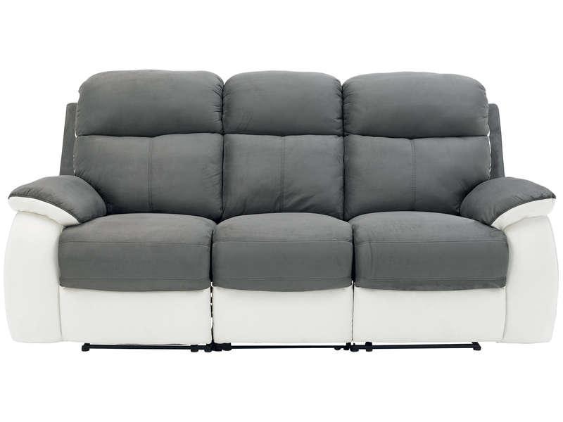 Canapé droit tissu pas cher