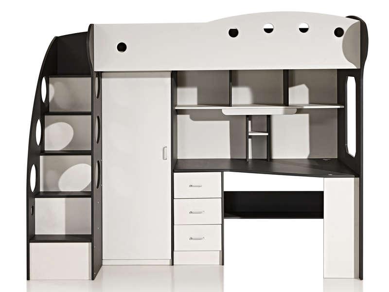 Lit mezzanine canapé conforama