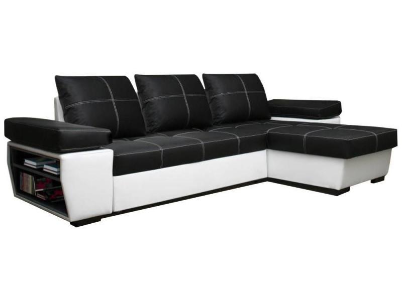 Canapé d'angle noir conforama