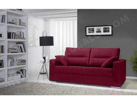 Canapé lit bordeaux