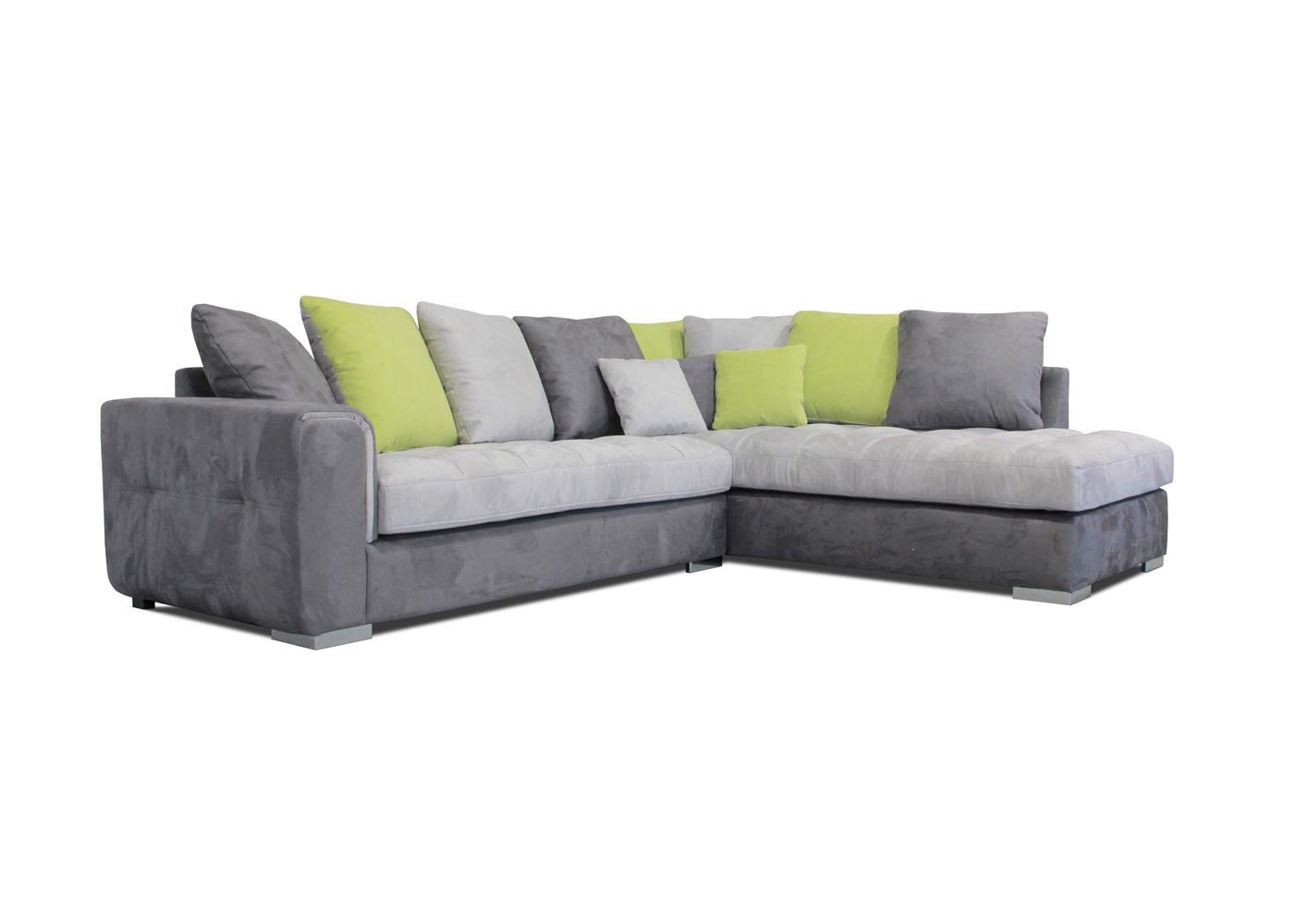 Canapé d'angle gris moderne