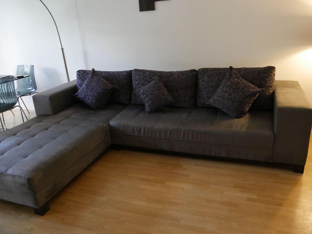 Canapé d'angle en suédine