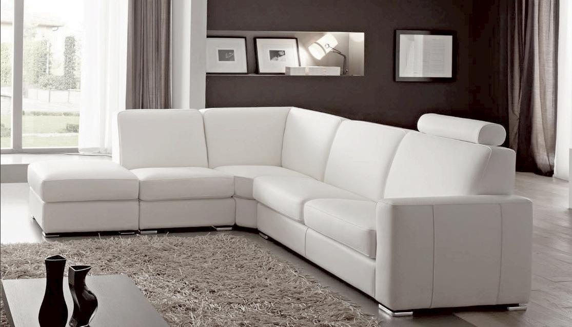 Canape d'angle en cuir veritable
