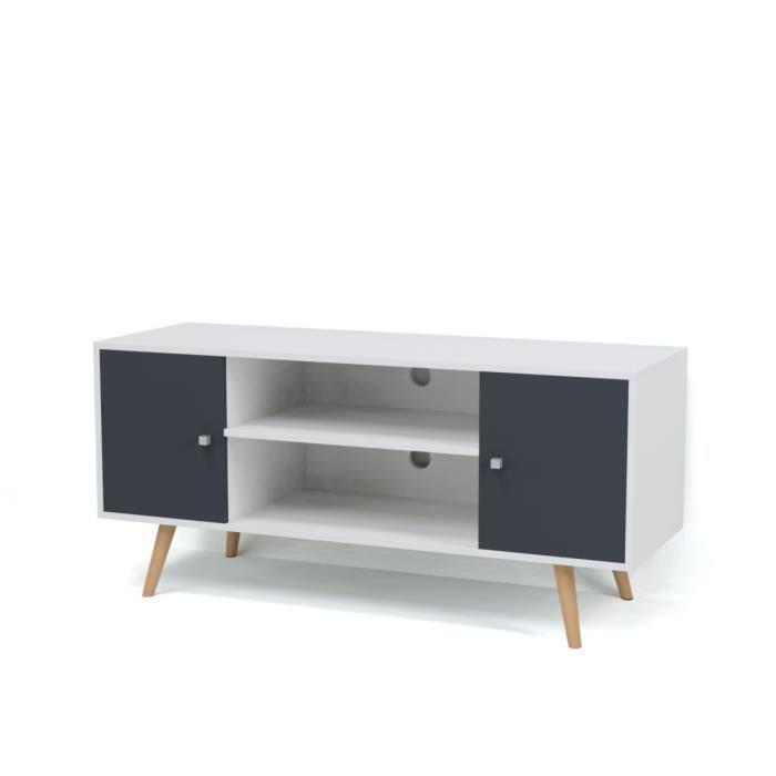 Meuble tv gris bois