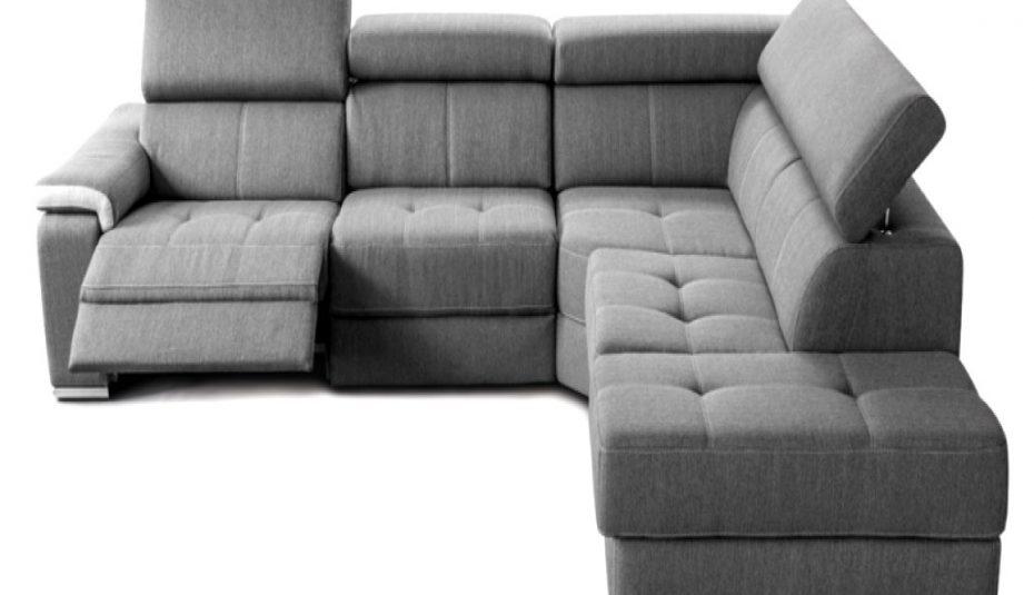 Modern salon canapé d'angle convertible reversible polo 4 places