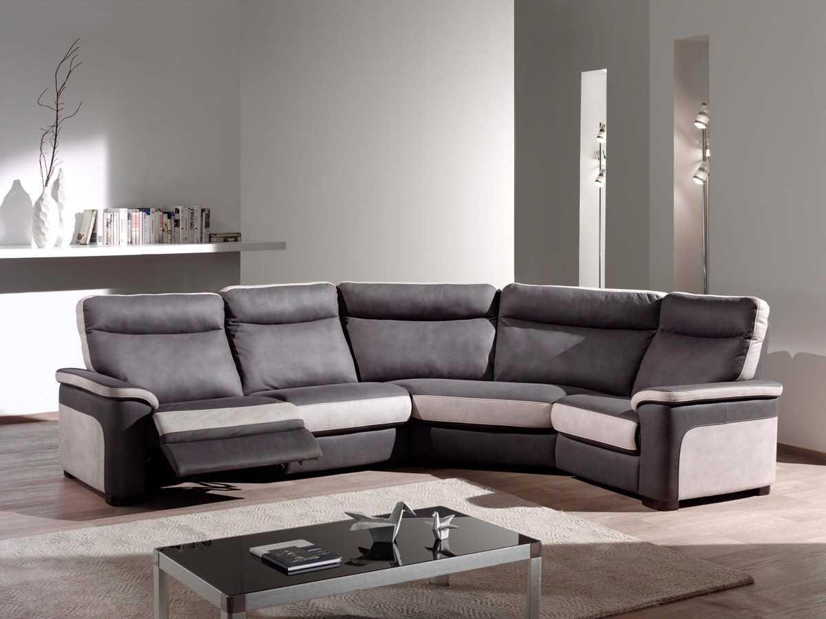 Canapé d'angle tissu confortable