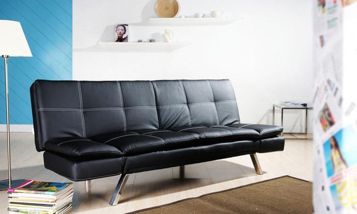 Canapé clic clac en cuir