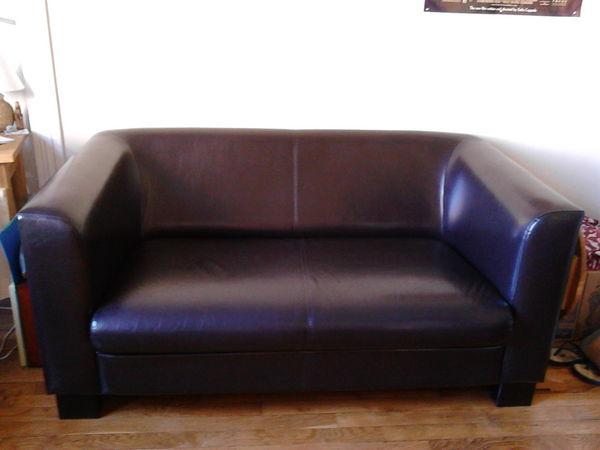 Canapé simili cuir 2 places