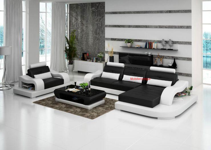 Canapé avec fauteuil pas cher