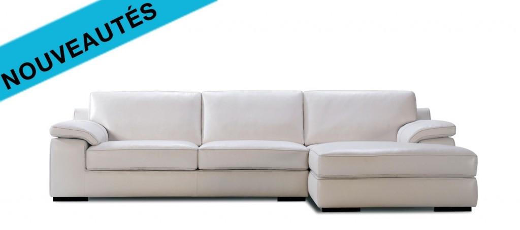 Canapé d'angle cuir 3 places