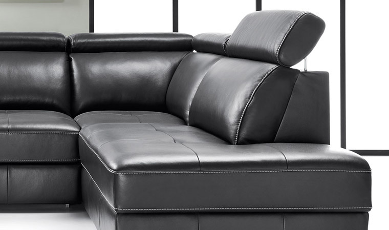 Canape angle cuir convertible lit