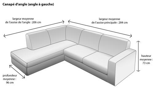 Canapé d'angle 2m de long