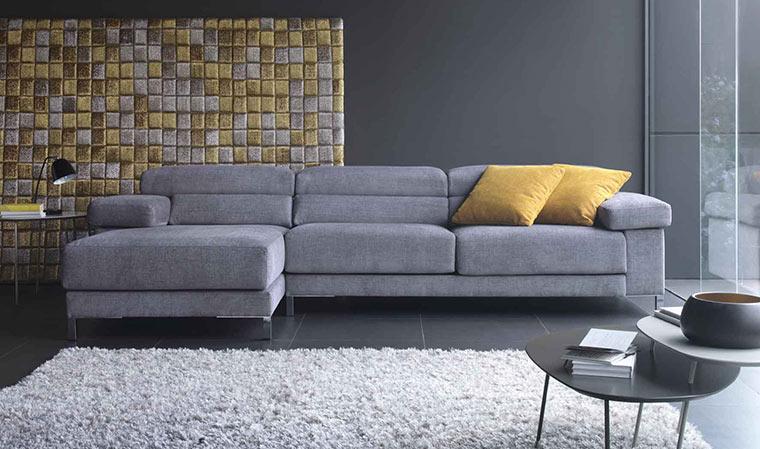 Canapé d angle tissu design