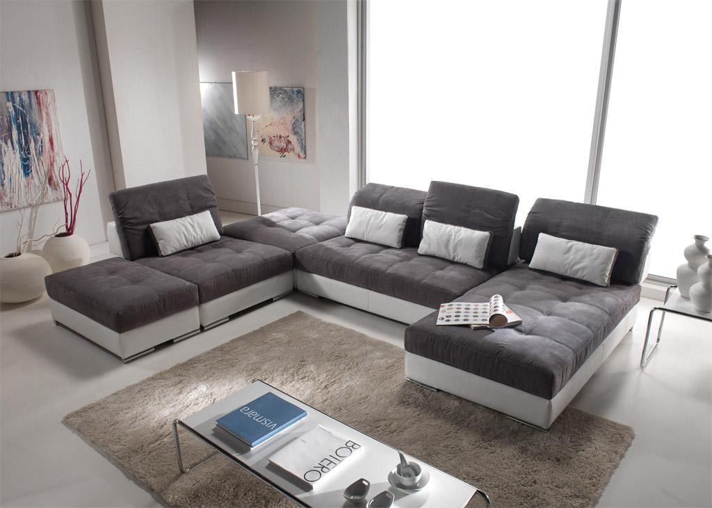 Canapé d'angle panoramique modulable