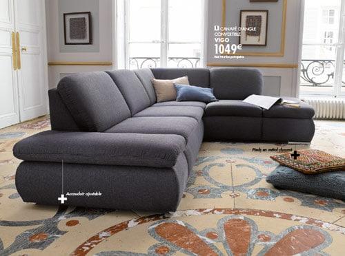 Conforama canapé d'angle vigo