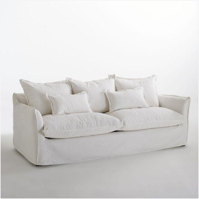Canapé lit lin