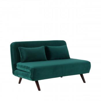 Canapé lit en velours