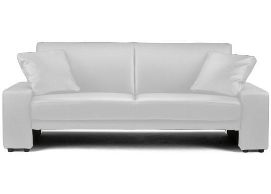 Petit canapé lit simili cuir
