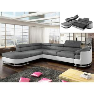 Canapé d'angle convertible tissu et simili kuopio