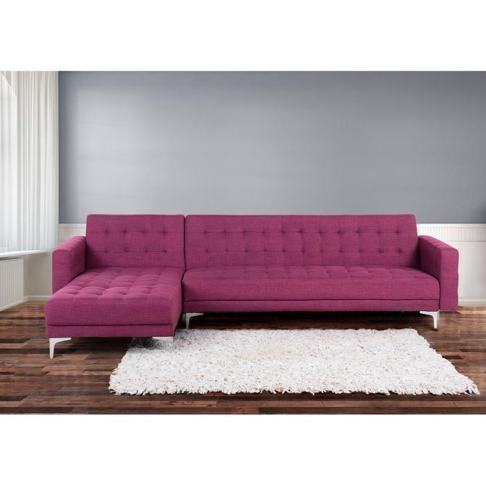 Canape lit violet