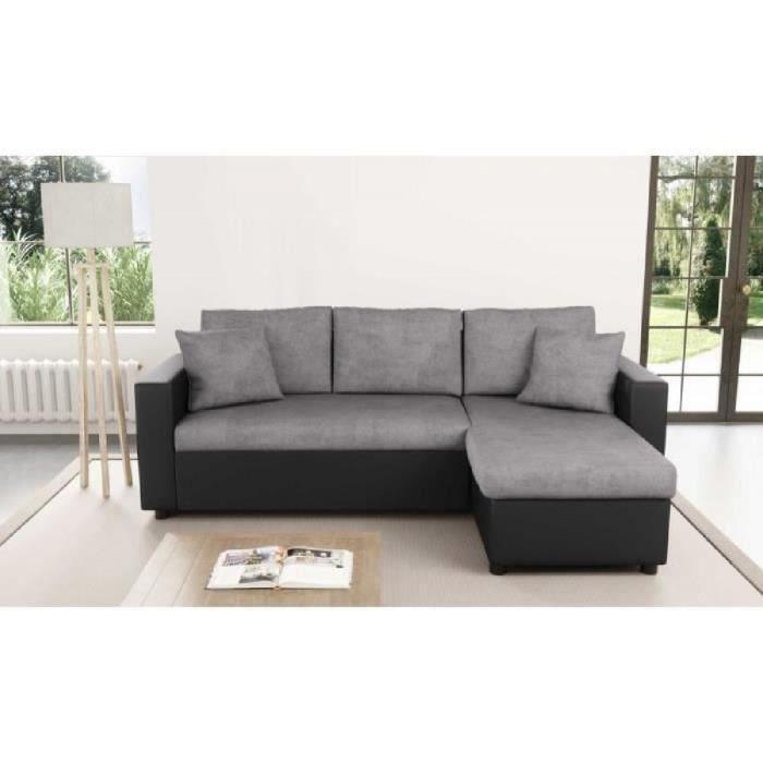 Canapé d'angle semi cuir pas cher
