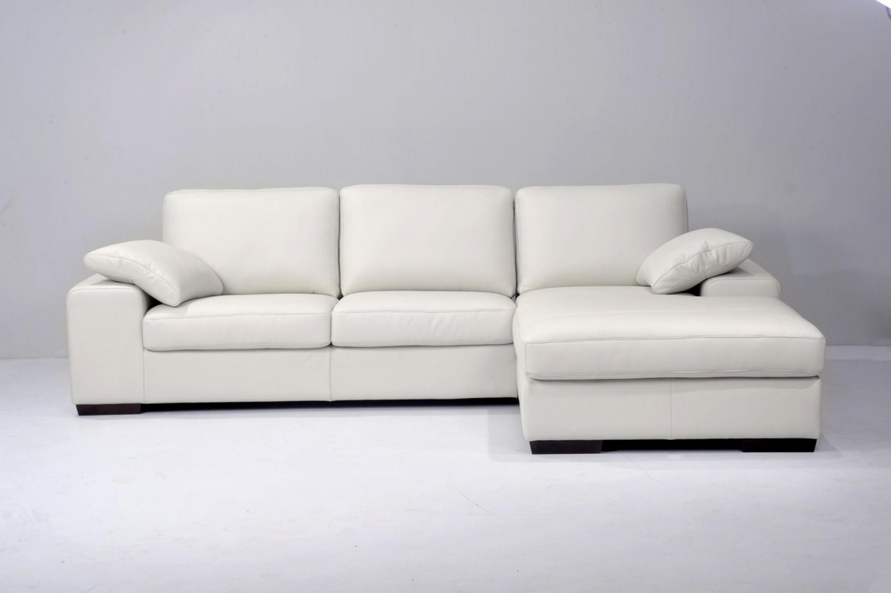 Canapé d'angle convertible cuir blanc