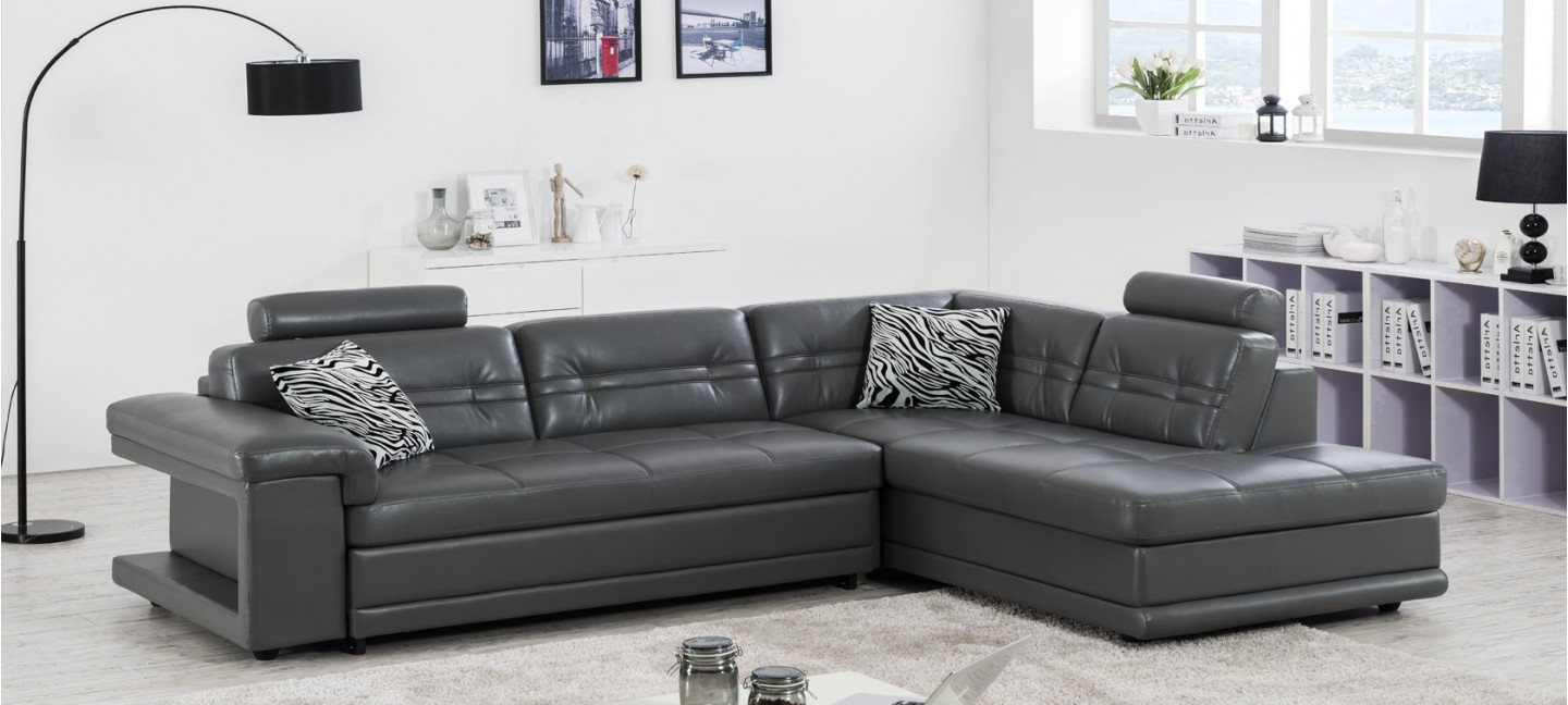Achat canape panoramique cuir