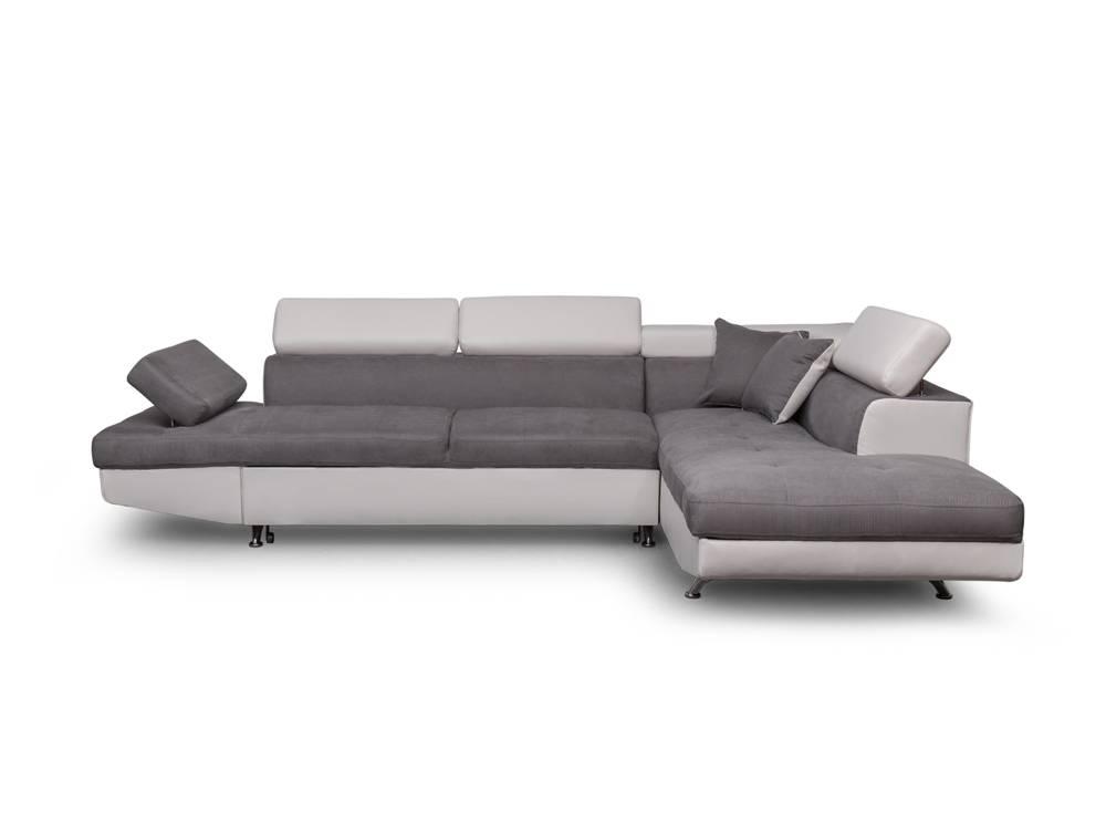 Canape gris et blanc pas cher