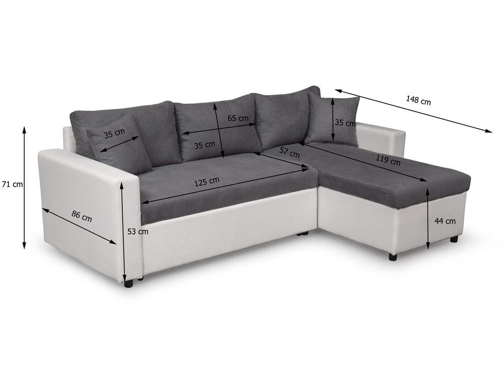 Petit canapé d'angle lit