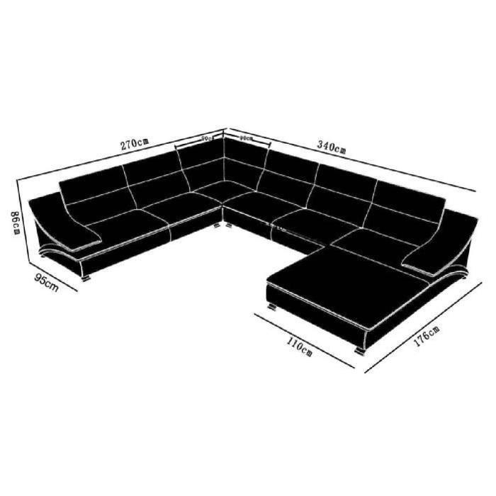 Canapé d'angle modulable cuir