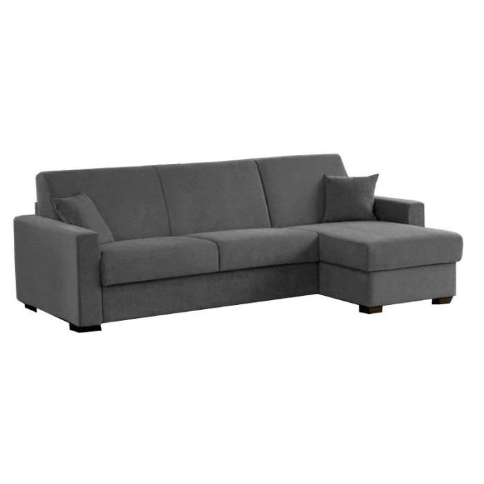 Canap d 39 angle convertible lit couchage quotidien maison - Lit convertible couchage quotidien ...