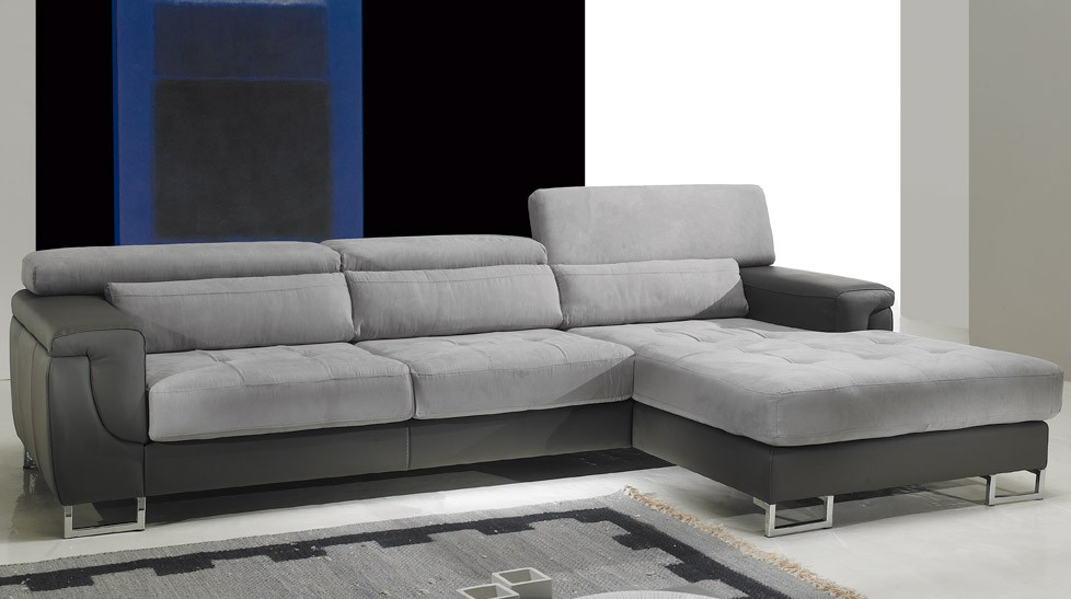 Petit canapé d'angle tissu