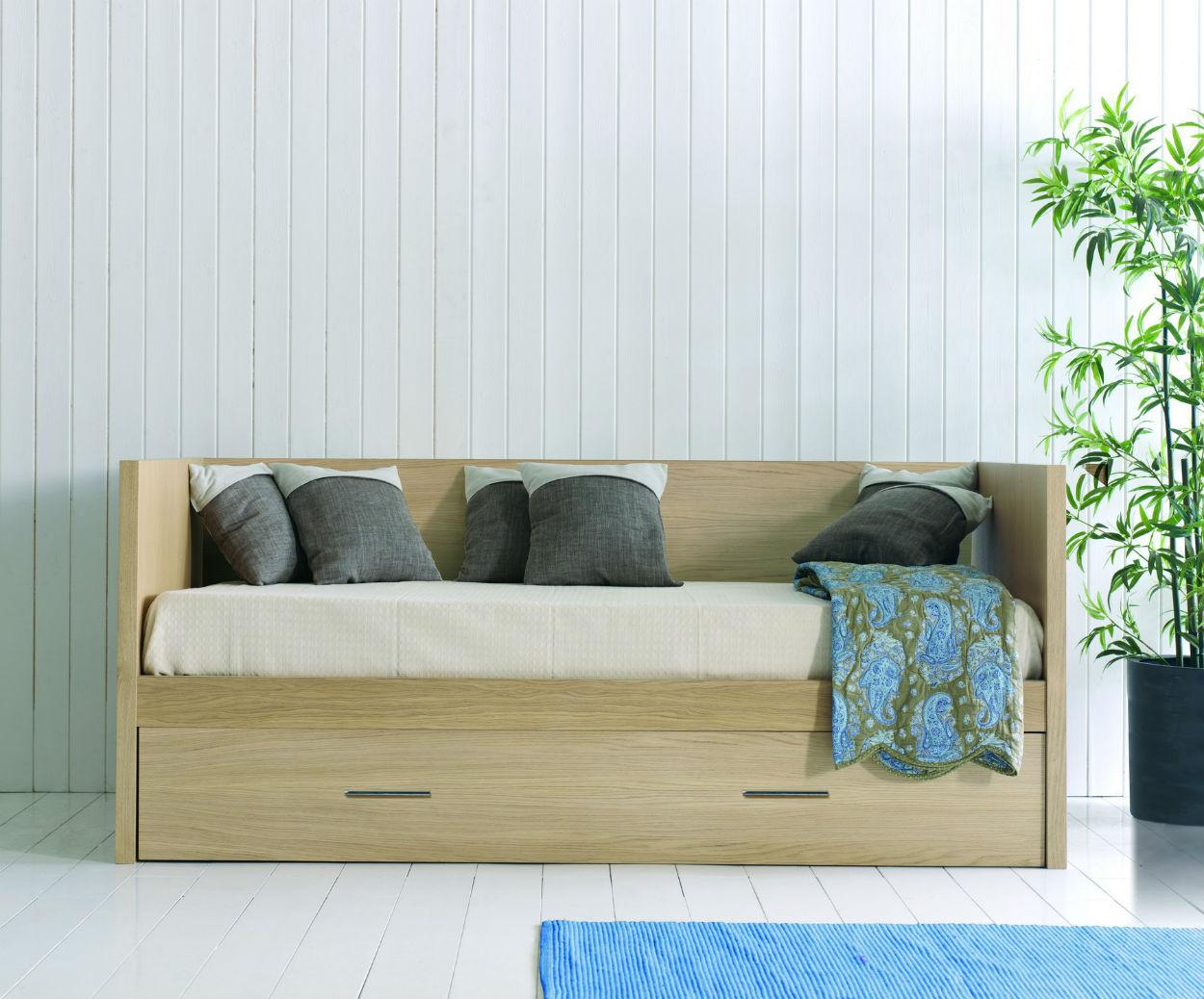Canape lit bois