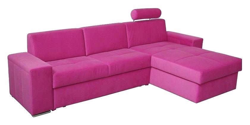 Canapé d'angle rose fushia