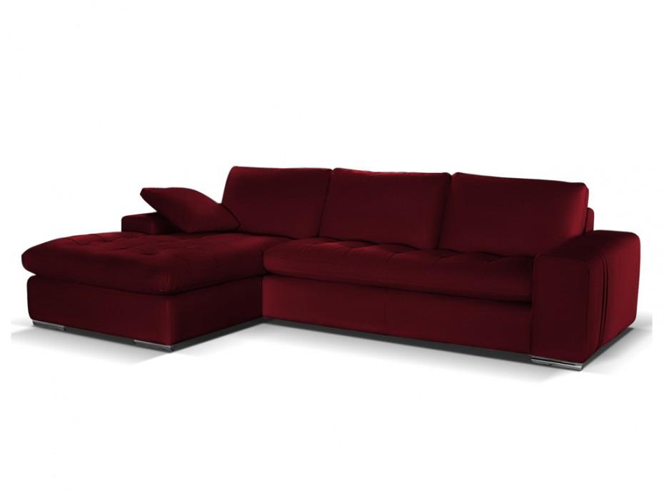 Canapé angle rouge